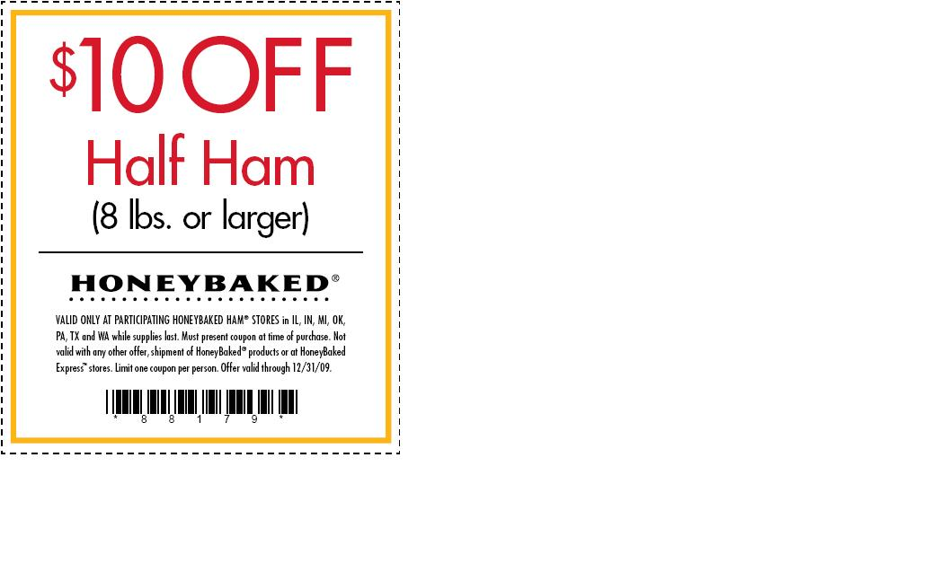 Honeybaked ham coupon april 2018