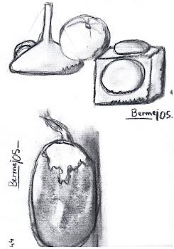 """""""Objetos y berenjena al carboncillo"""", por Antonio"""