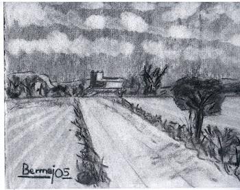 """""""Apunte de paisaje al carboncillo"""", por Antonio"""