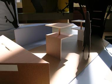Détails maquette de stand; écologie