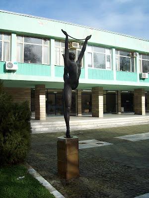 Yambol's Diana Park - Gymnast Figure Statue