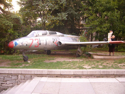 Jet Fighter Plane in Yambol Town Centre