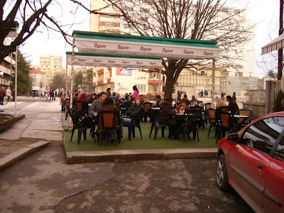 The Tables And Chairs Are Out In Yambol Again