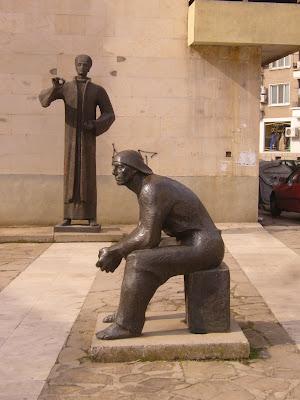 The Yambol History Museum Statues