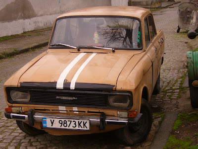 A Classic Moskovitch - With Racing Stripes?