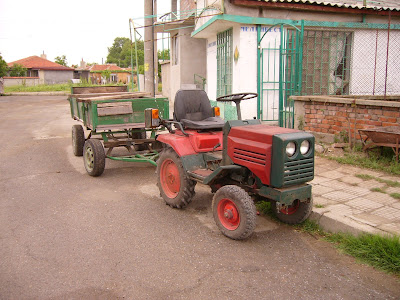 A Cute Little Tractor In The Yambol Outskirts