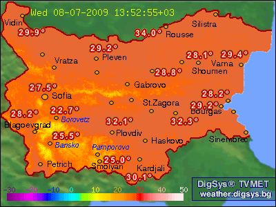 Current Weather In Bulgaria