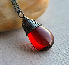 Red Wine Quartz Necklace