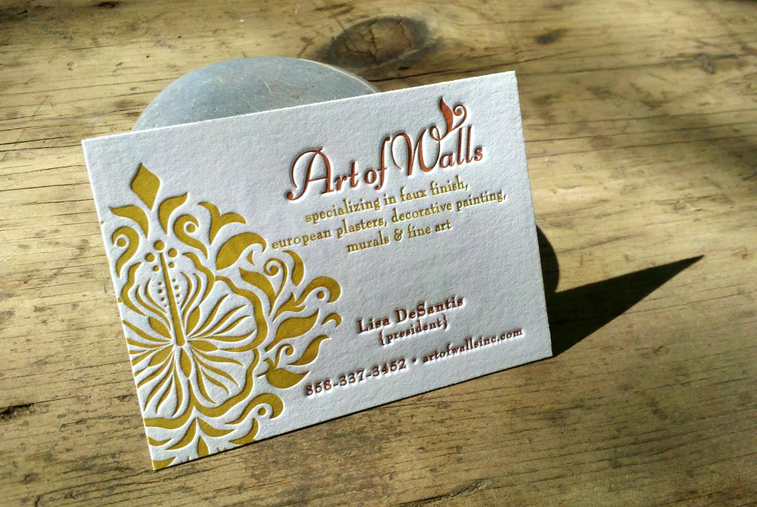 illustration+letterpress: Artful Business Cards {letterpress}