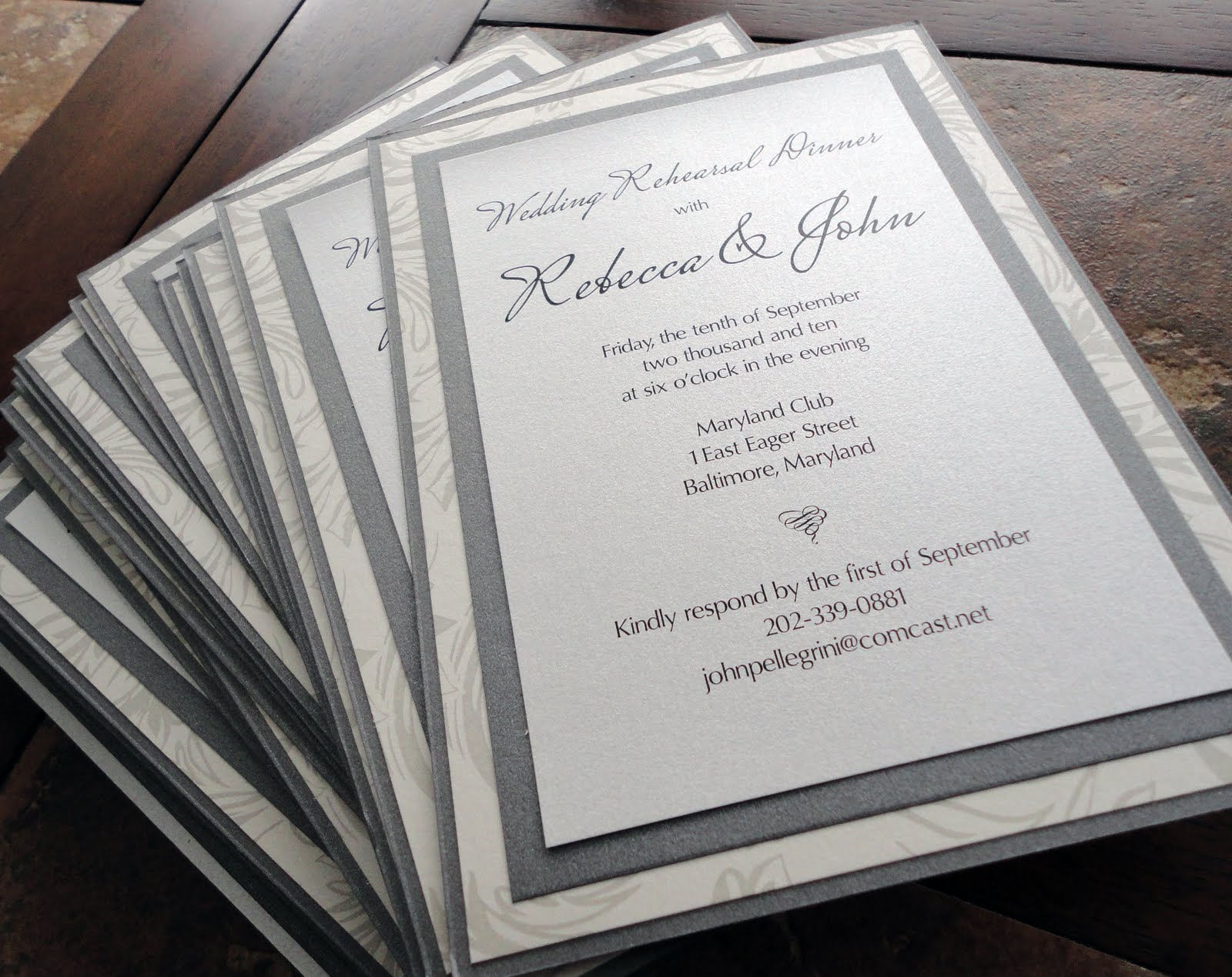 Rehearsal Dinner Invites :: Invitations Baltimore Maryland Kindly ...