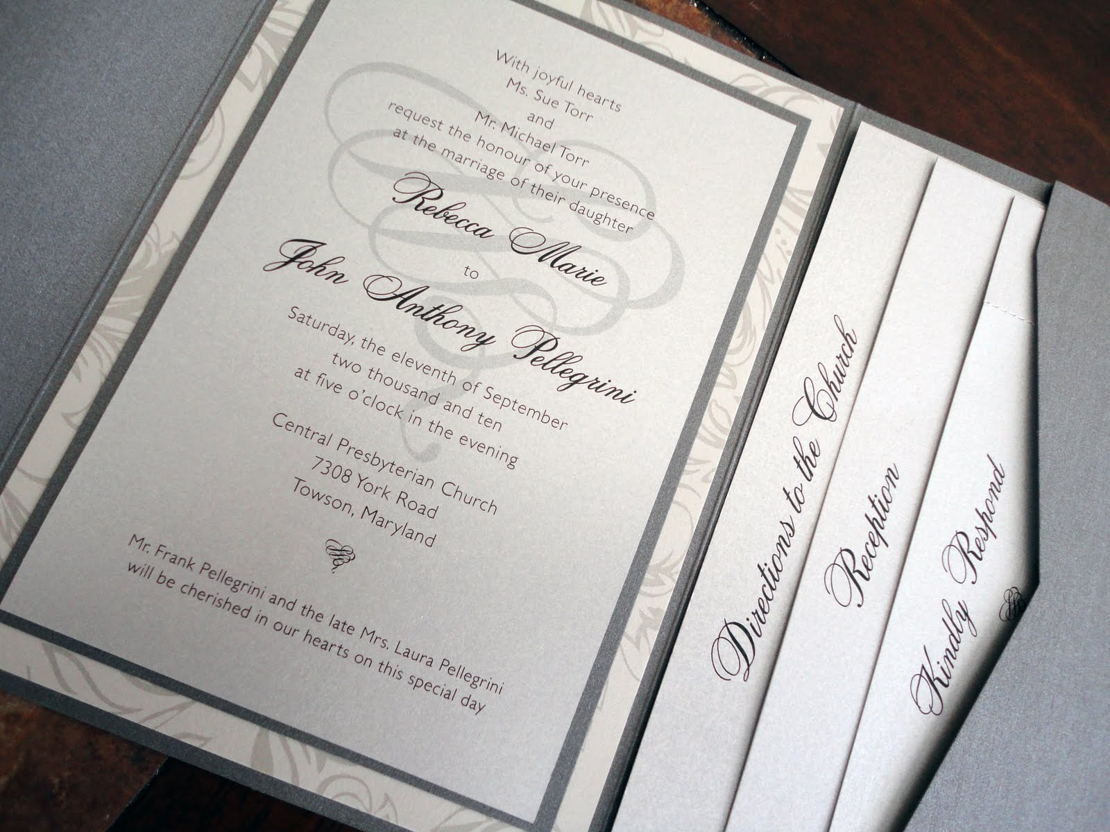 Pocket Invitations Baltimore :: Wedding Invitations Baltimore Kindly ...