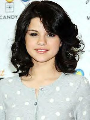 selena gomez short haircut. Short, curly hair