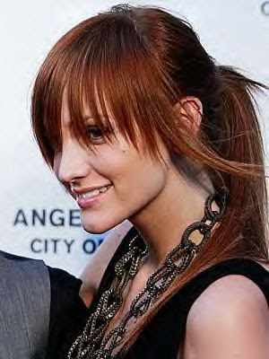 celebs with bangs. Big angs are still in