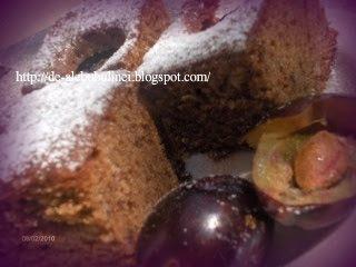 Articole culinare : Prăjitură cu prune şi cacao