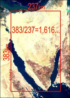 Sinai Peninsula as Golden Rectangle