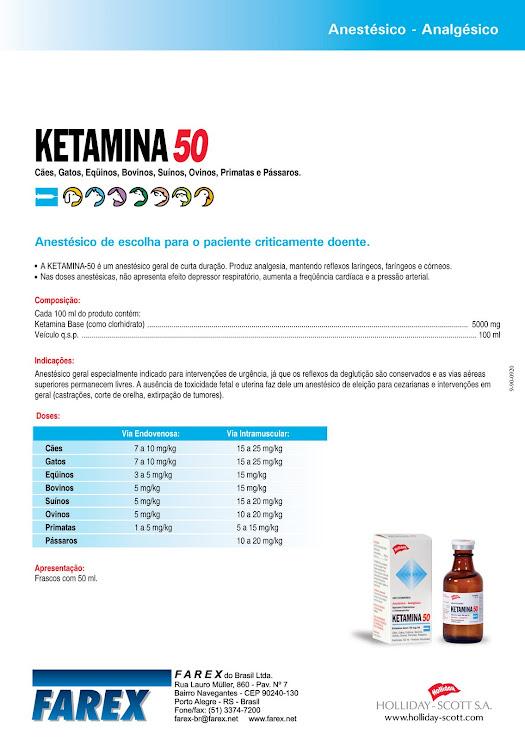 Ketamina 50 verso