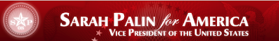 Palin for America banner