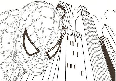 dessin coloriage spiderman gratuit a imprimer