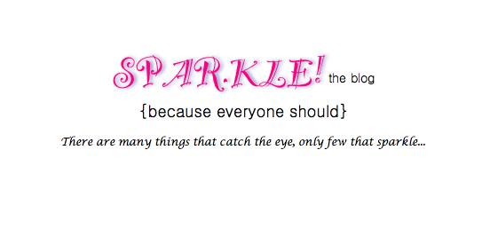 Sparkle! the blog
