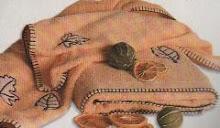 Toallas con hojitas bordadas