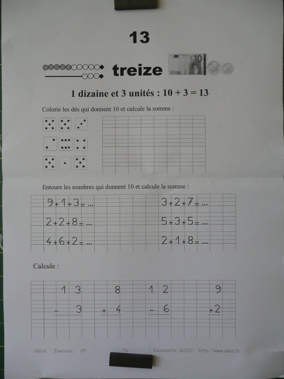 Le cp d 39 amalth e 2009 2010 for Le chiffre 13