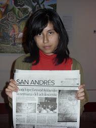 Alumna del taller de dibujo en itzpapalotl
