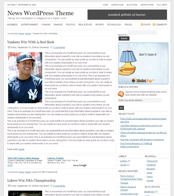 news+wordpress+theme Free News Wordpress Theme for Blogger