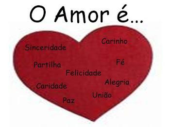 o amor é....