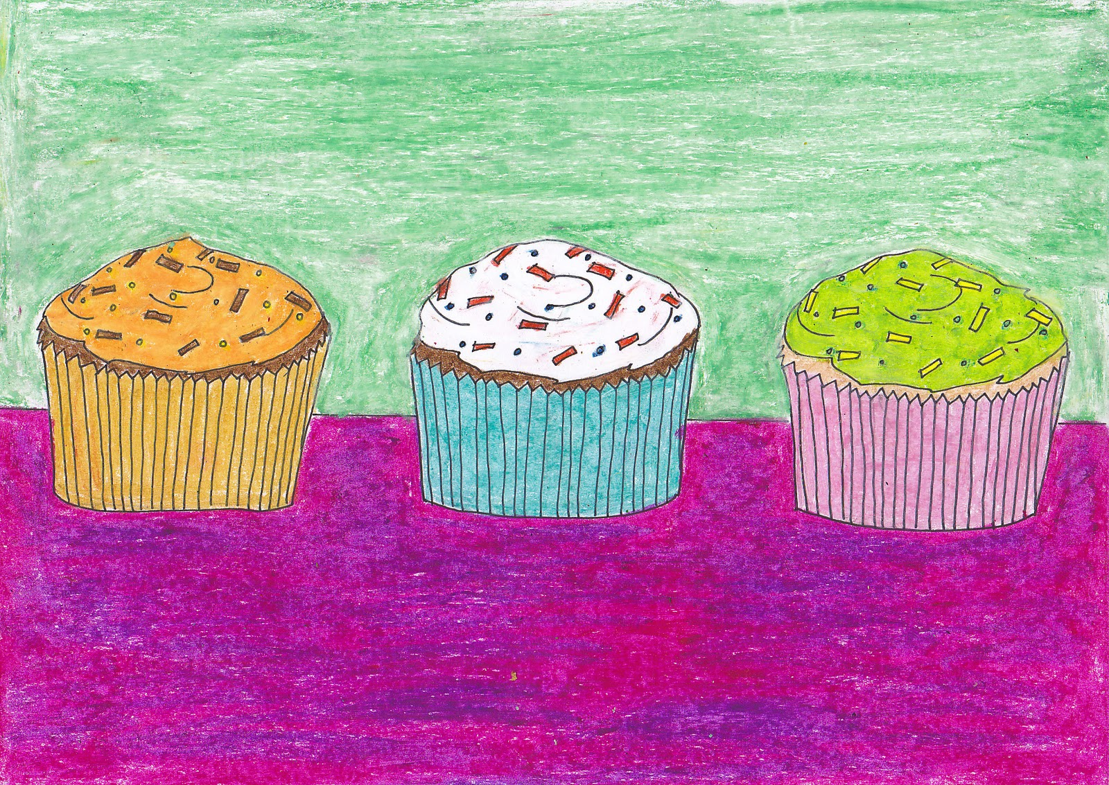 Simple art project ideas wayne thiebaud cupcakes for Simple art projects