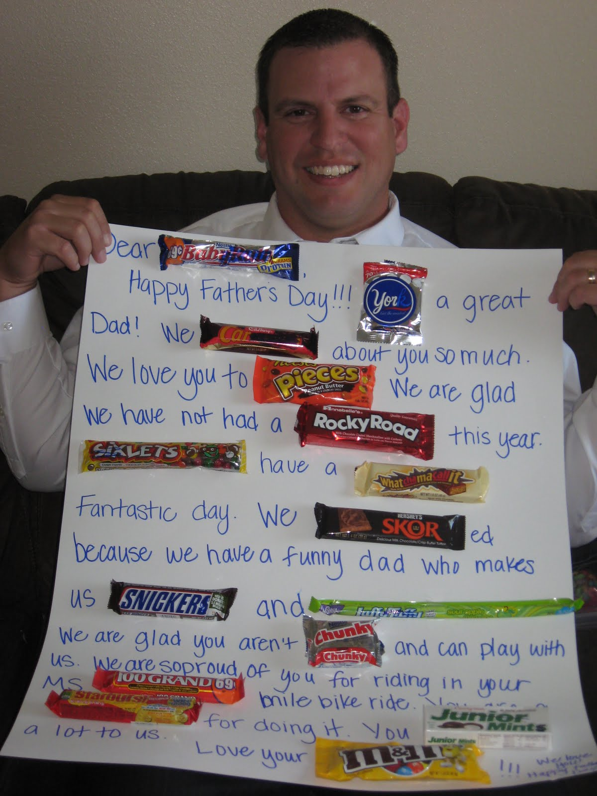 Father's Day Candy Bar Card