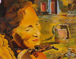 Salvador Dali !! 1933_13_Portrait+of+Gala+with+Two+Lamb+Chops+Balanced+on+Her+Shoulder,+1933