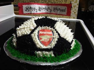 Arsenal Soccer Ball Cake Lisas Lovely Creations