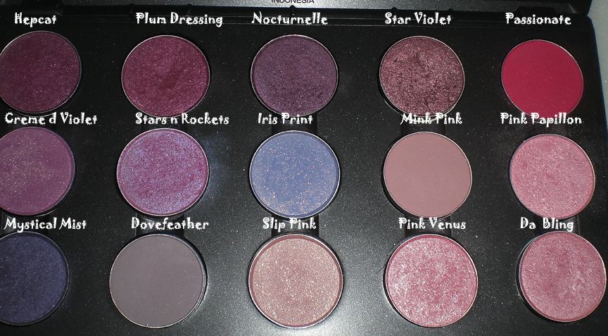 make up galore mac pink purple eyeshadows part i