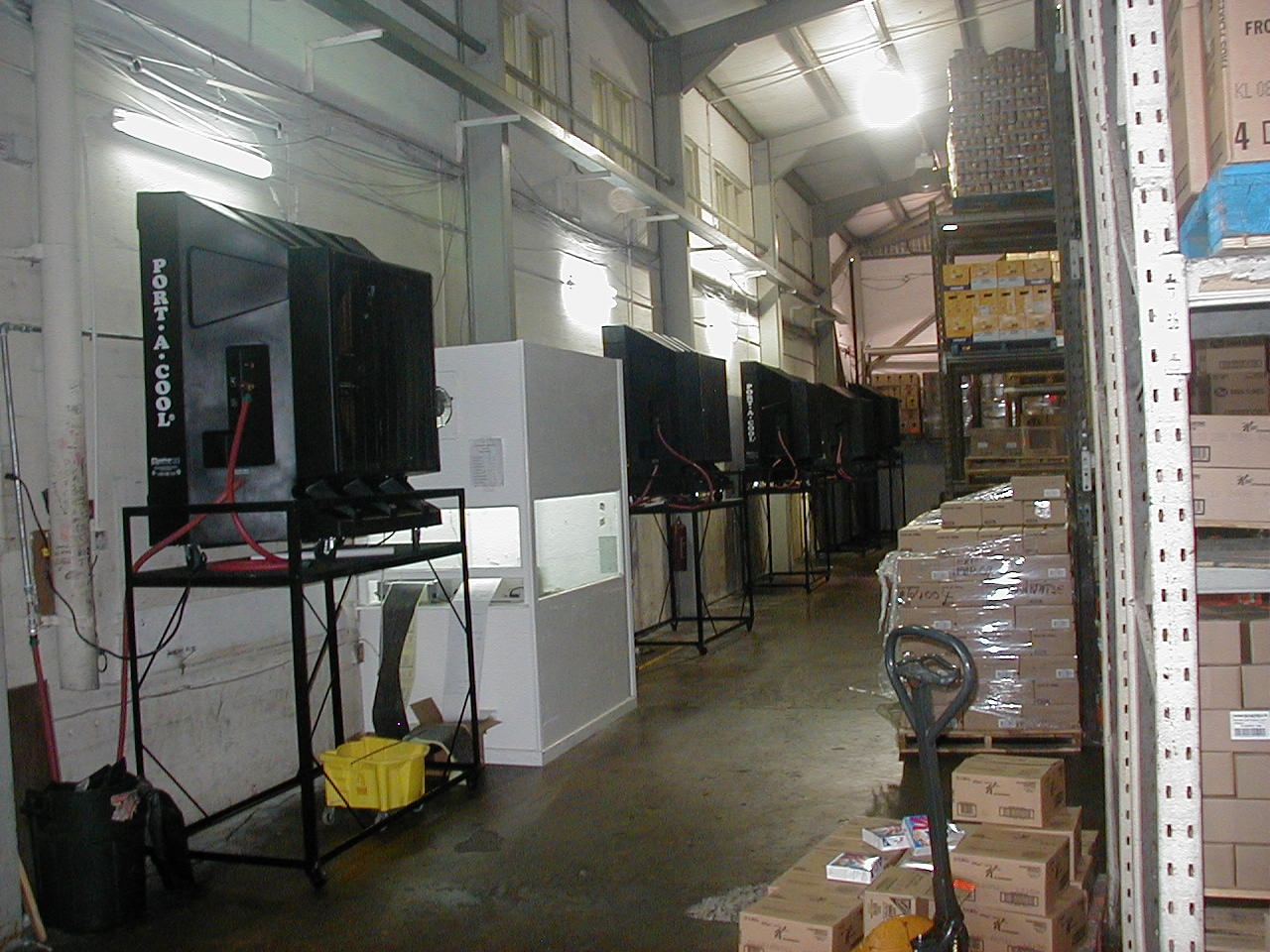 Industrial Evaporative Cooling Systems : Evaporative cooling distribution center portable