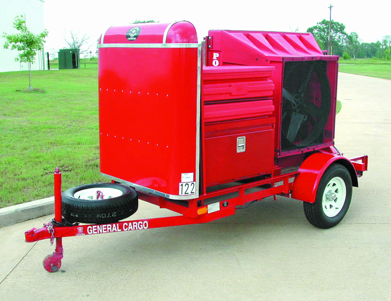 Portable Cooling Trailers : Portool portable evaporative cooling emergency services