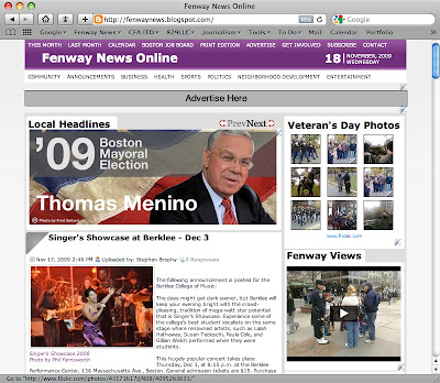 Fenway News Online Website Design