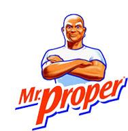 El señor Proper. Imagen de la marca de productos de limpieza.