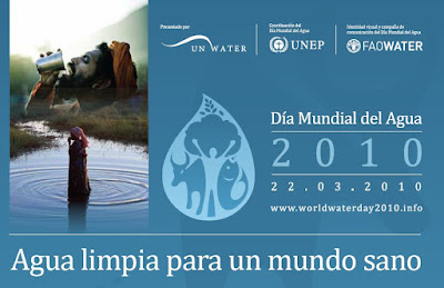 Cartel conmemorativo de El Da Mundial del Agua 2010