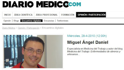 Diario Medico 28 Abr'10: Entrevista a MA Daniel, Presentacin