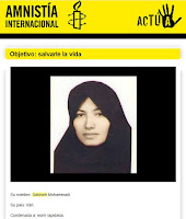Correo electrnico de Amnista Internacional sobre Sakineh, del 08/07/10