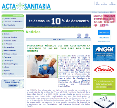 Acta Sanitaria 26/11/2010
