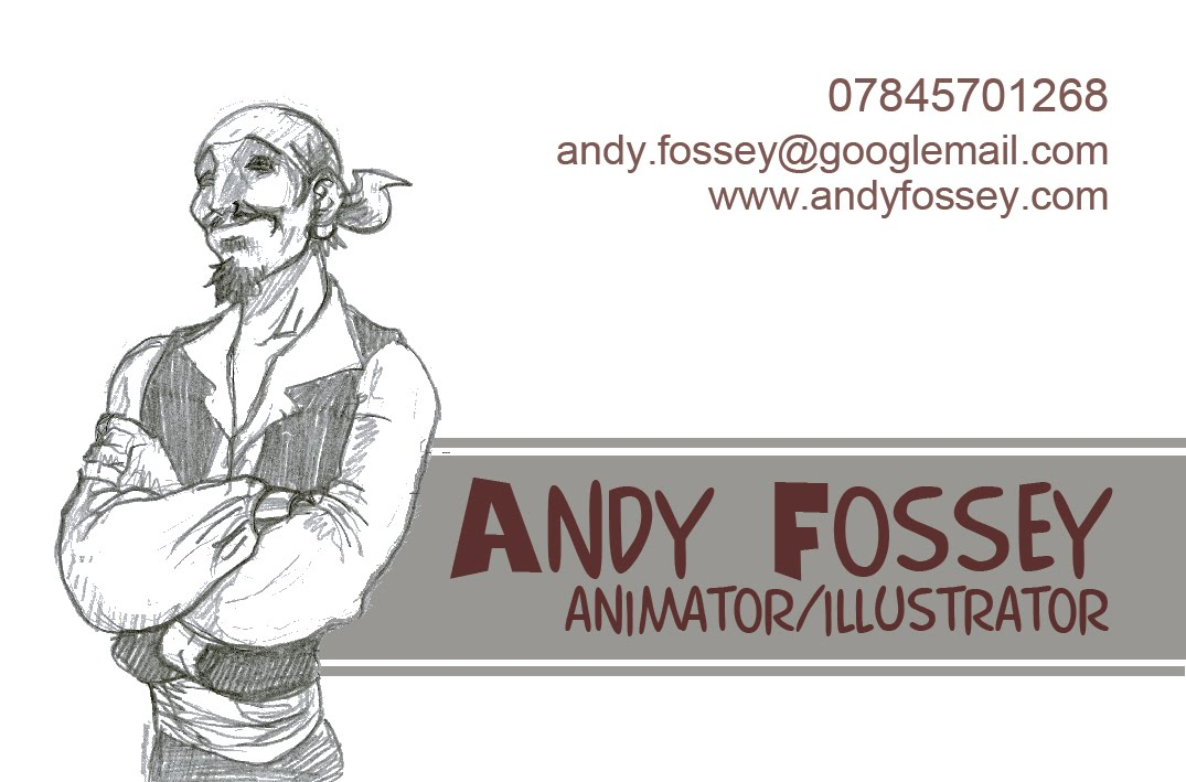 Andy Fossey Animation Blog: some business card designs