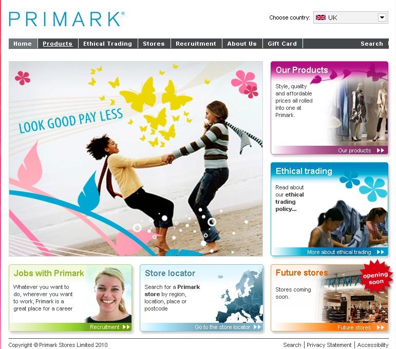 Primark ie shop online