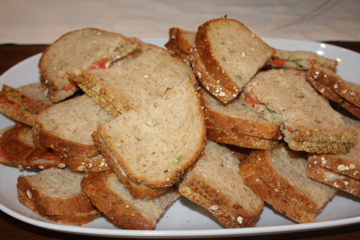 Smoked Salmon Tea Sandwiches Recipe — Dishmaps