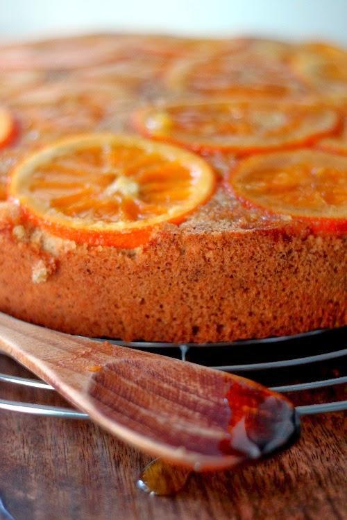 Orange Upside Down Cake - Little Upside Down Cake