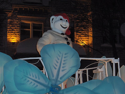 Bonhomme Carnaval... As soon as the parade was over, we scurried our butts