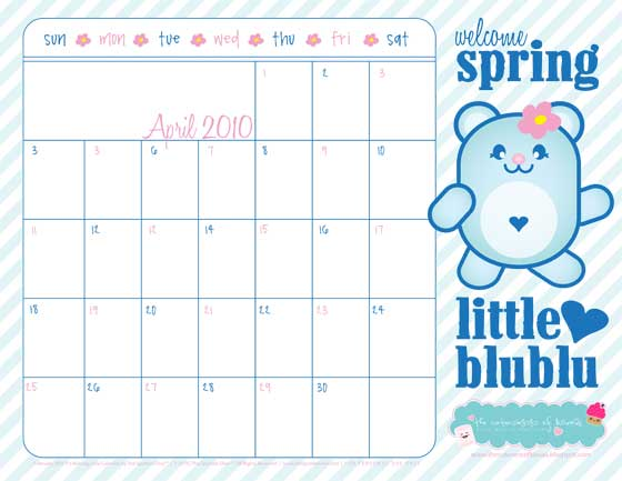Printable august 2010 hello kitty calendar