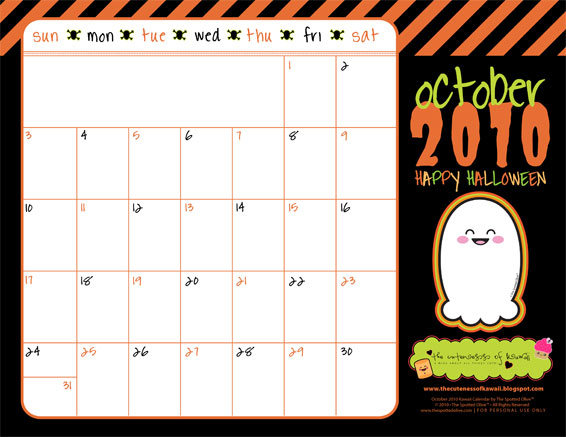 The Temptation News: 2010 october calendar