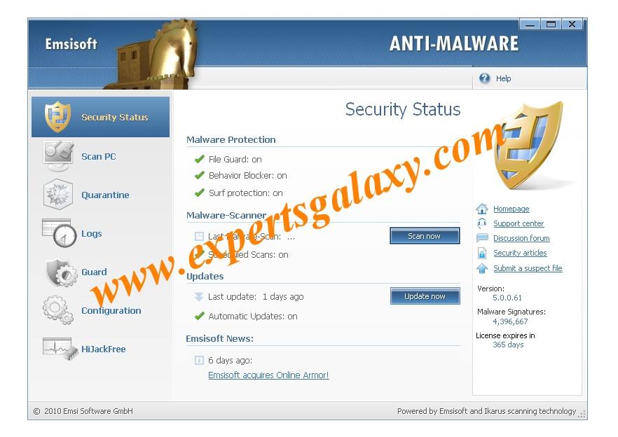 Emsisoft Anti Malware Free