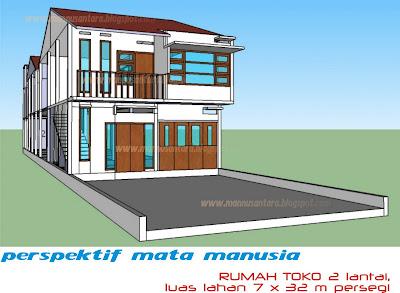 house star: desain rumah toko (ruko) dua lantai | desain